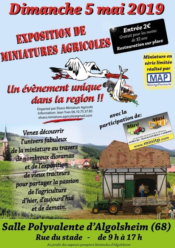 Affiche de l'exposition de miniatures agricoles.