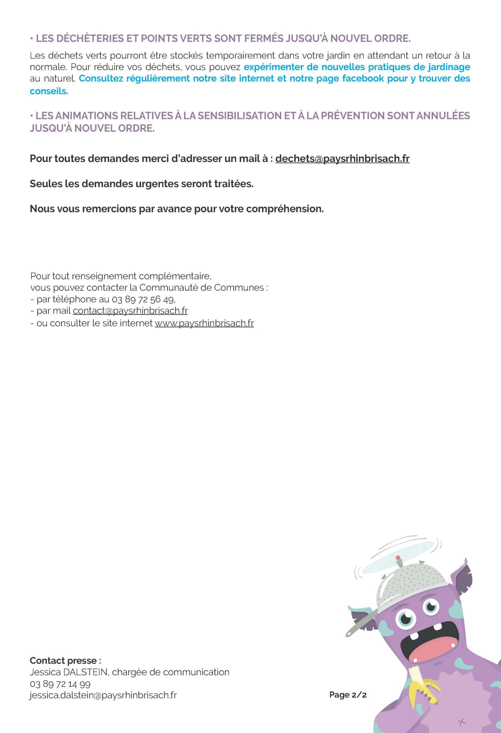 Point de situation - Gestion des déchets - Page 2
